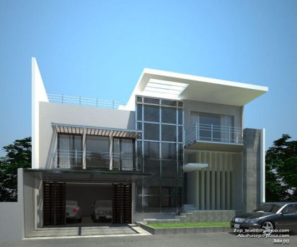 rumah exterior by abahasep