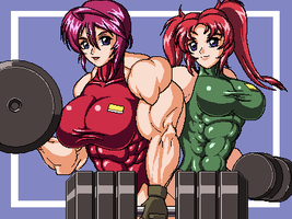 Hawke sisters fitness by RENtb
