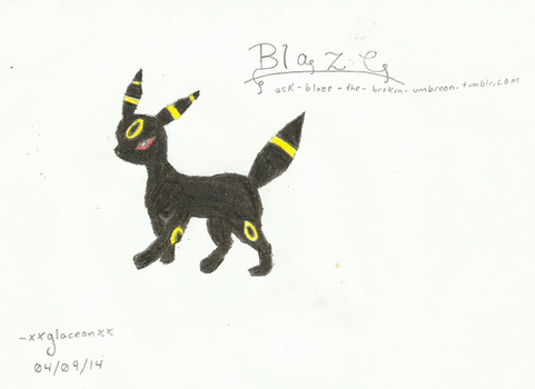 My Attempt at an Umbreon by eewq