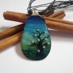 Landscape resin spoon necklace by JacDesigns