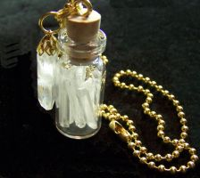 Quartz Crystal Gem Bottle by mymysticgems