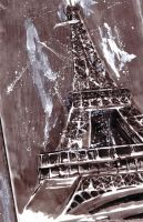 eiffel tower inked by Thestickibear