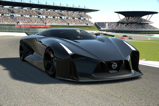 Black Nissan 2020 Concept Vision GT racing by NightmareRacer85