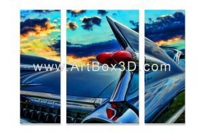 cadillac sunset 3 Panel Assorted Sizes 30 by artbox3dstudio