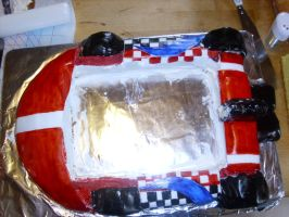mario kart cake progress pic 6 by toastles