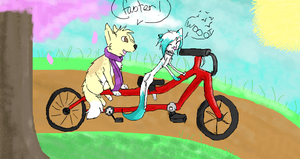 bicycle for two by AutumnGryph