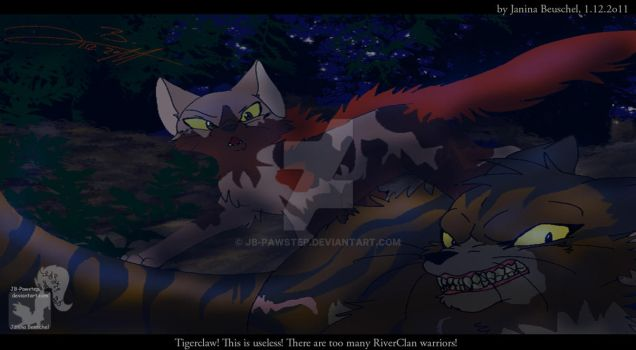 Into the Wild -Sunningrocks Fight by JB-Pawstep
