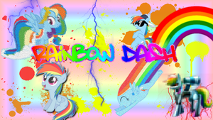 Rainbow Dash Background by KirbyDude64