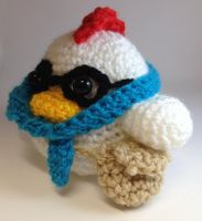 Hipster Chicken by BirdyBunnyCreations