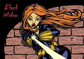 Black widow - colors by bonisol