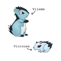 Fakemon - Viciouse and Vilemm by Sliv-Pie