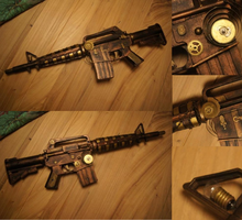 Steampunk gun- for sale by Jaguraawr