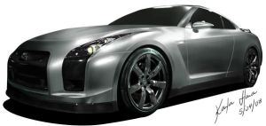 Skyline GT-R35 by karlahara