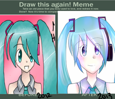 Draw this Again Meme ~ Hatsune Miku by Angelwing8