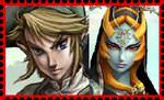 Link and Midna Stamp by WOLFBLADE111