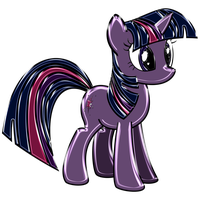 Twilight Sparkle Chrome by DuskBrony