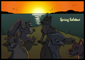 Spring Solstace: On The Cliff by dandypandy12