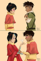 Young airbender love [Jinora x Kai] by heichou-bender