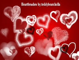 Heartbrushes by teddybearcholla