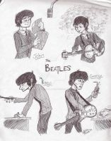 Fab Four...in a new style by TheAbbeyRoadie