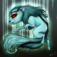 Old NP Fanart: Ghost Xweetok by Fealoki