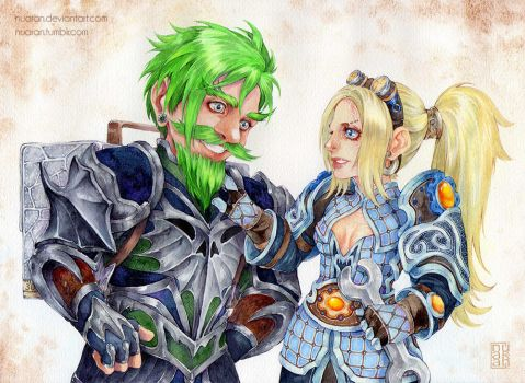 Commission: Toxerum and Ginny by Nuaran