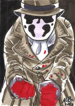 Watchmen Rorschach Art Card by kevinbolk