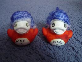 Thing 1 and 2 ducks by ShayeraLee