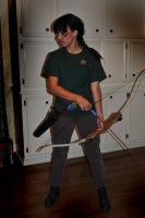 Halloween Katniss -front- by BlackRoseOpal