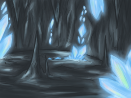 Crystal Caves by cluelesscomedy123