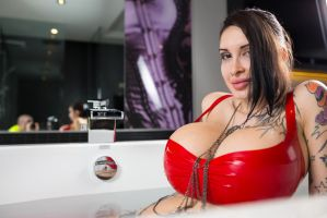 Huge Boobs in the Bath by Ariane-Saint-Amour