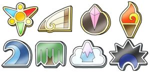 Saytoh Gym Badges by PokemonMasta
