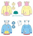 Deluxe Fluttershy and Rainbow Dash Hoodie Designs by Monostache