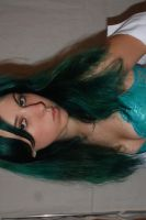 green hair and underwear stock by huomennastock