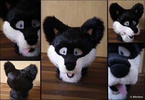 Sky Fursuit Head COMISSION by Alinchen-Tenny