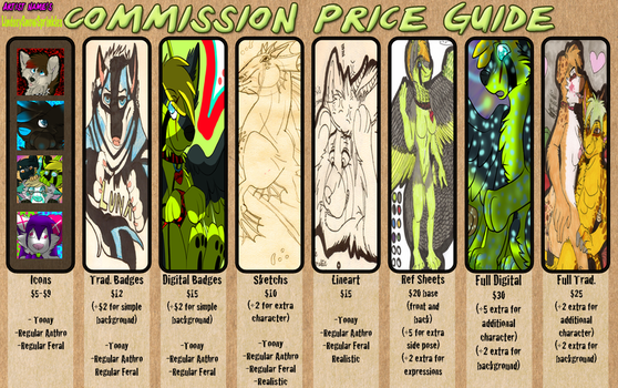 My Price Commission Sheet (Commissions-OPEN) by LesbianBat55