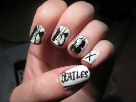 Beatles nails! by WaterLily-95