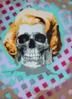 marilyn monroe skull by 10baron10
