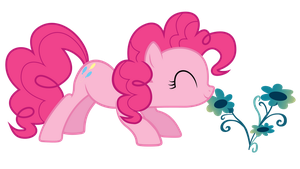 Stop and smell the flowers, Pinkie by TechRainbow