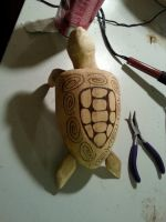 Cedar turtle sculpture wip by mikejamez