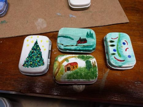 painted tins by gambleleon