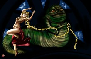 C: Jabba Likes His Space Princesses by Sir-Frog