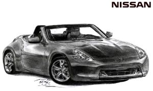 Nissan 370Z Roadster drawing by toyonda