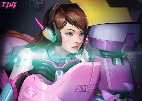 D.va - from overwatch by Louie-Oh