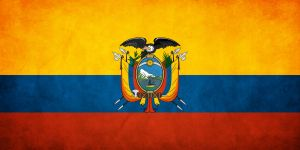 Ecuador Grunge Flag by think0