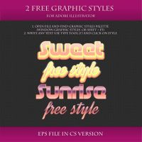 FREE Colorful Graphic Styles for AI #7 by Love-Kay