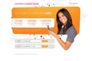 Happiness Every Hour microsite by luqa