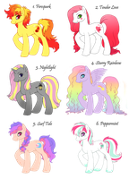 Pony Adoptables *ALL ADOPTED* by Amenoo