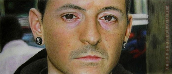 Chester Bennington COLOUR PENCIL VERSION by im-sorry-thx-all-bye