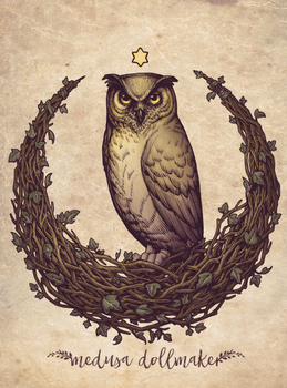 Owl Hedera Moon by Medusa-Dollmaker